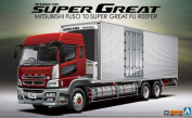 1/32 Mit FUSO Reefer Truck with Side Cargo Doors