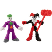 Fisher-Price Imaginext DC Superfriends The Joker and Harley Quinn Action Figures
