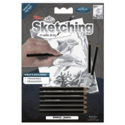"Mini Sketching Made Easy Kit 13cm X7""-Dolphins"