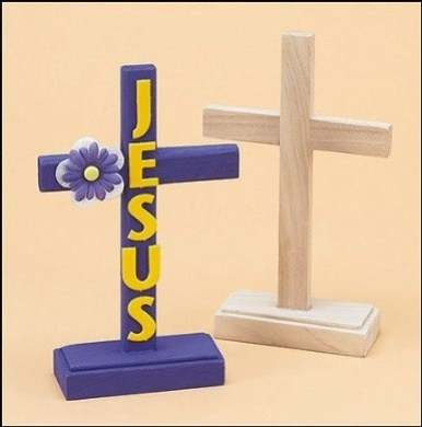 Religious easter gift 18cm standing latin cross unfinished wood religious easter gift 18cm standing latin cross unfinished wood sunday school activity arts craft kit httpsfishpondtoysreligious easter negle Image collections