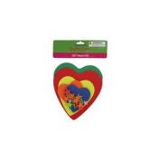 Bulk Buys Do-it-yourself foam heart craft kit Case Of 24