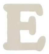 Darice 9181-E Wooden Cutout, Letter E
