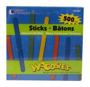 Loew Cornell 1021232 Woodsies Assorted Colour Craft Sticks