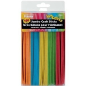 Loew-Cornell Woodsies Jumbo Craft Sticks Value Pack in Assorted Colours