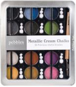 30 Pc Pebbles Creamy Precious Metals Chalk Set