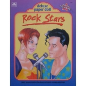 Golden ROCK STARS Deluxe PAPER DOLL Book UNCUT w Fashions to Finish & MORE!