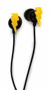 Kikkerland US033 Bolt Earbuds - Retail Packaging - Yellow/Black