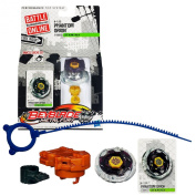 Hasbro Year 2012 Beyblade Metal Fury Performance Battle Tops - Stamina 145ES B-152 PHANTOM ORION with Face Bolt, Orion Energy Ring, Phantom Fusion Wheel, 145 Spin Track, ES Performance Tip and Ripcord Launcher Plus Online Code