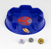 Beyblade Metal Fusion Stadium Battle Set- Includes 3 Beyblades (#BB88 Meteo L-Drago, #BB99 Hell Kerbecs, #BB104 Basalt Horogium) and a Beyblade Stadium, Best Beyblade Toys For Collection