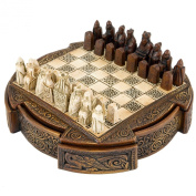 Isle Of Lewis Compact Celtic Chess Set 23cm