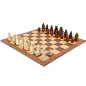 The Isle Of Lewis Walnut and Maple Chess Set