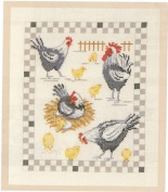 The Henhouse Counted Cross-Stitch Kit