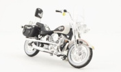 Harley Davidson FLSTN Heritage Softail Nostalgia, white/black, 1993, Model Car, Ready-made, Maisto 1:18