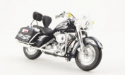 Harley Davidson FLHRSEI CVO customs, met.-dark-blau/silver, 2002, Model Car, Ready-made, Maisto 1:18