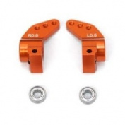 ST Racing Concepts STH103329-5O Aluminium 0.5 Degree Toe in Rear Hub Carriers with Oversized Outer Bearings, Orange