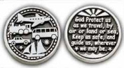 Cathedral Art Traveller's Prayer Pewter Pocket Token - PT139