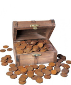American Coin Treasures Lincoln Wheat Ear Pennies Treasure Chest