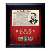 New York Times Civil War 150th Anniversary Coin Collection Framed