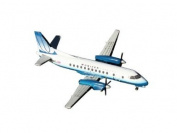 Gemini Jets United Express Saab 340 Final UA Livery Diecast Vehicle, 1:400 Scale
