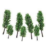 Model Pine Tree Train Set Scenery Landscape HO - 16PCS