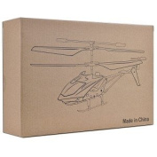Mini 1:42 Scale Gyro Twin Propeller R C Helicopter w LEDs & 35CH Remote via iPhone & iPad White Silver