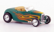 Ford Hot Rod Roadster, green, with flamepatterned , 1932, Model Car, Ready-made, Ricko 1:87
