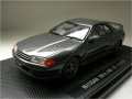 fits Nissan Skyline GTR R32 1989 Gunmetal Grey 1/43 Scale Diecast Model