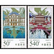 China Stamps - 1998-19 , Scott 2887-88 Puning Temple in Chengde and Wurzburg Palace (Jointly Issued by China and Germany) - MNH, VF
