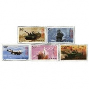 China Stamps - 1997-12 , Scott 2782-86 The 70th Anniversary of the Founding of the Chinese People's Liberation Army - MNH, VF dealer stock