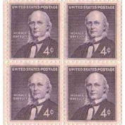 Horace Greeley Set of 4 x 4 Cent US Postage Stamps NEW Scot 1177