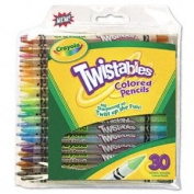 NEW - Twistables Coloured Pencils, Nontoxic, 30 Assorted Colours/Pack - 687409
