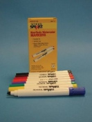 School Smart Non-Toxic Washable Conical Markers - Set of 8 - Assorted Colours