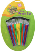 Kids' Fun Brush Set 24 PC Use for All Paints Ages 6 to Adult