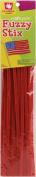 "Fuzzy Stix Chenille Stems 6mm 12"" 25/Pkg-Red"