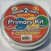 Centre Enterprises Jumbo Circular Washable Paint Stamp Pads, 15cm , Assorted Colours, Set of 4