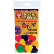 Stick-A-Licks 200/Pkg-2.5cm Hearts