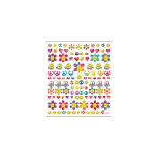 Multi-Coloured Stickers-Retro Happy Faces