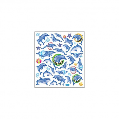 Multi-Coloured Stickers-Dolphin Fun 129900 Tattoo King