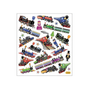 Multi-Coloured Stickers-Trains