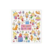 Multi-Coloured Stickers-Birthday Fairies