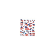 Multi-Coloured Stickers-Patriotic 129871 Tattoo King
