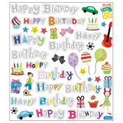 Multi-Coloured Stickers-Happy Birthday