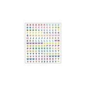 Multicoloured Stickers-Prismatic Alphabet
