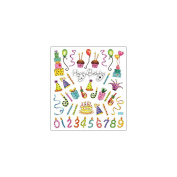 Multi-Coloured Stickers-Happy Birthday Celebration