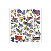 Multi-Coloured Stickers-Motorcycle Mania