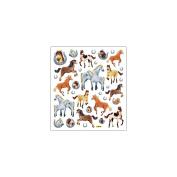 Multi-Coloured Stickers-Horses Glitter