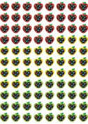 Dots on Black Apples Stickers