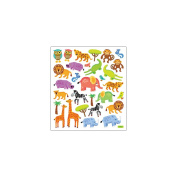 Multi-Coloured Stickers-Jungle Animals
