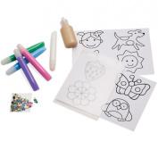 "Manhattan Toy ""Imagine I Can..."" Creative Colour Sticker Clings, Girl"