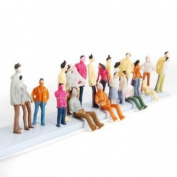 New 100pcs Painted Model Train People Figures Scale N